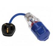 Defender 230V 13amp to 16amp Fly lead Socket Convertor - PTE85301