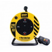 Defender 230V Cable Reel 20 Metre 1.25mm 4 Way - PTE86465