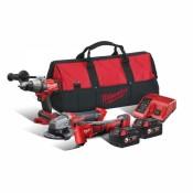 Milwaukee® M18FPP3D-502B 3 Piece 18V FUEL Power 3D 2x5.0Ah Combo Kit - 4933464605