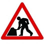 Quazar 600mm Flexible 'Men at Work' Sign - 7001